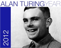 Photograph of Alan Turing, commemorating the centenary of his birth