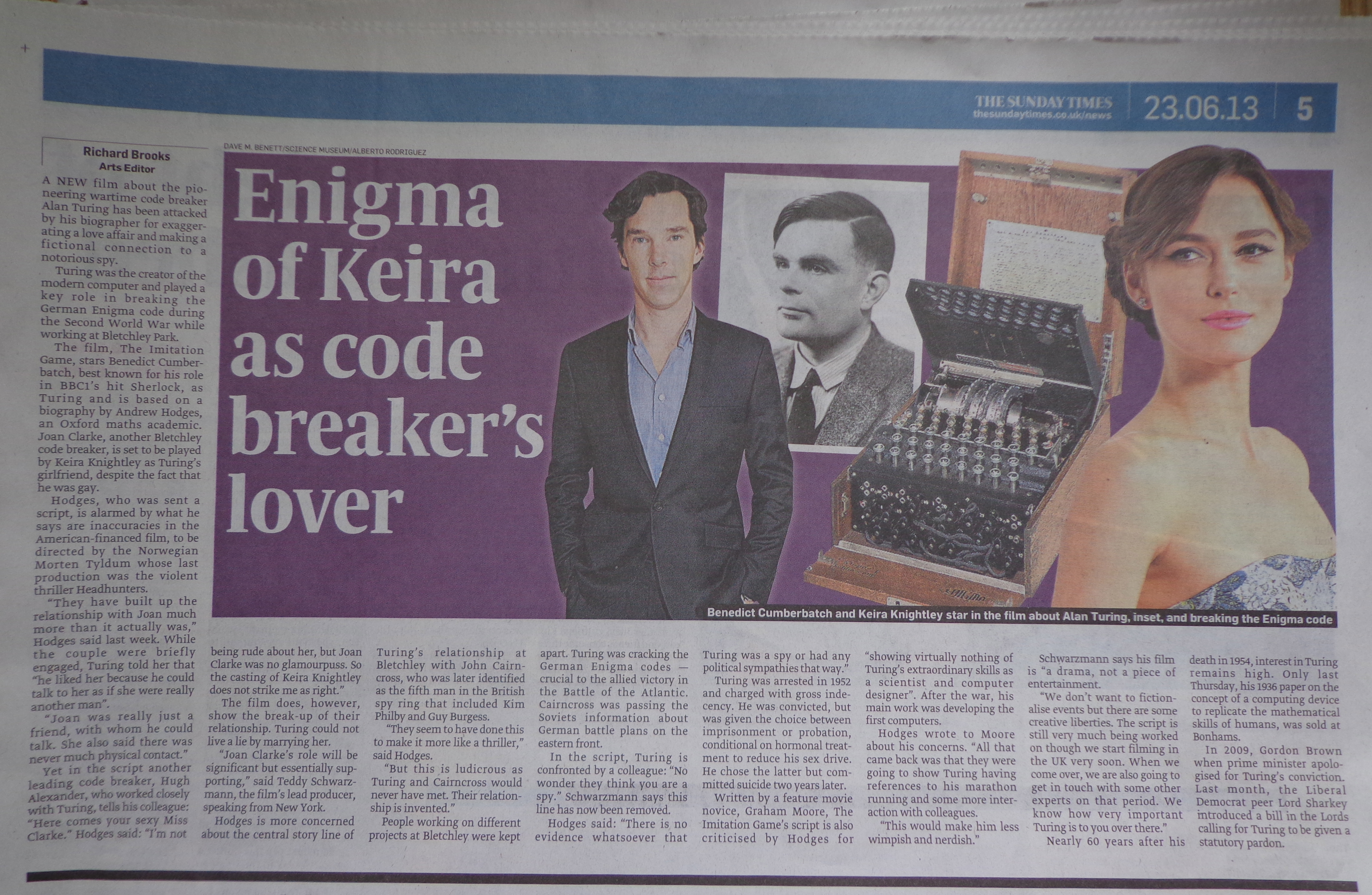 Alan Turing   Turing s Radiator Turing notes found warming Bletchley Park s leaky ceilings     The Register